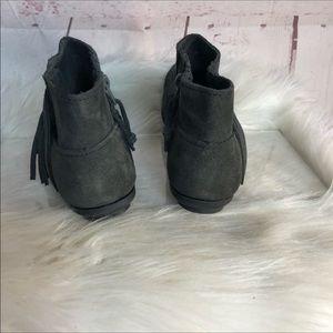 Minnetonka Shoes - Minnetonka Gray Fringe Ankle Boots Size 6.5